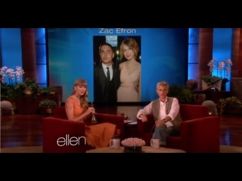 Taylor Swift Interview on Ellen - Not Dating Zac Efron!