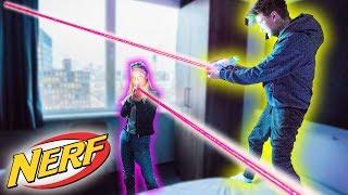 Im Haus LASERTAG spielen! (Eigene Lasertags!) I Werbung