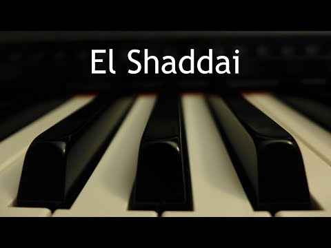 El Shaddai - piano instrumental cover with lyrics