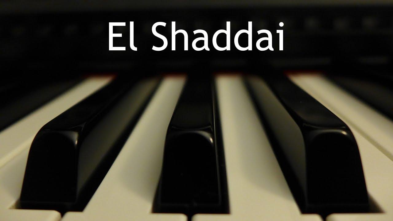El Shaddai | Instrumental piano - Kaleb Brasee