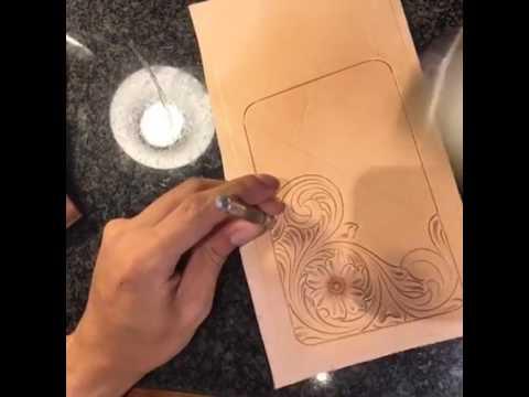 如何製作皮雕,完成皮件雕刻