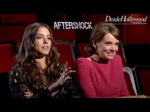 Lorenza Izzo, Andrea Osvárt: AFTERSHOCK Exclusive
