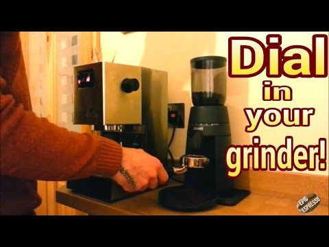 Tutorial how to dial in your coffee grinder