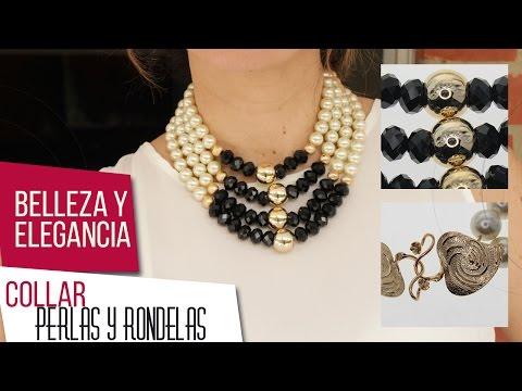 Como hacer collar de perlas y rondelas Kit 26521 | VARIEDADES CAROL