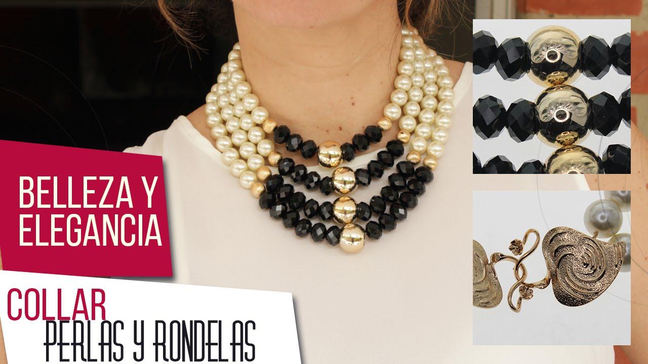 03b7d789f551 Como hacer collar de perlas y rondelas Kit 26521