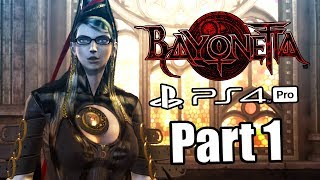 BAYONETTA REMASTER Gameplay Walkthrough Part 1 - All Collectibles | No Commentary (PS4 PRO)