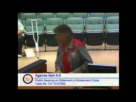 Riverside County California Board of Supervisors hearing 24 March 2015