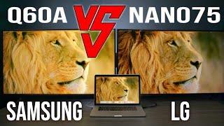 2021 LG Nano 75 VS 2021 Samsun…