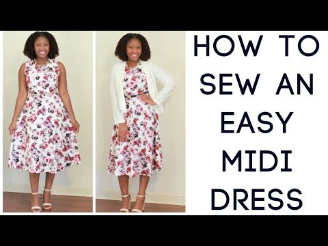 How to Sew An Easy Midi Dress