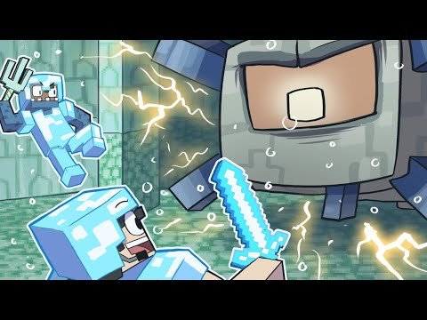 Defeating The GUARDIAN TEMPLE in MINECRAFT! ~ Funny Minecraft
