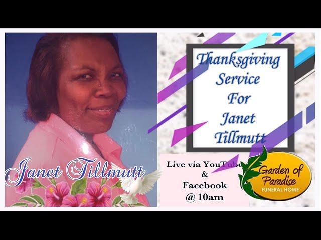 Memorial Service for Janet Tillmutt