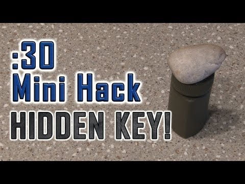 How To Make A HIDDEN KEY!