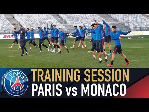 TRAINING SESSION : PARIS vs MONACO - FINALE COUPE DE LA LIGUE