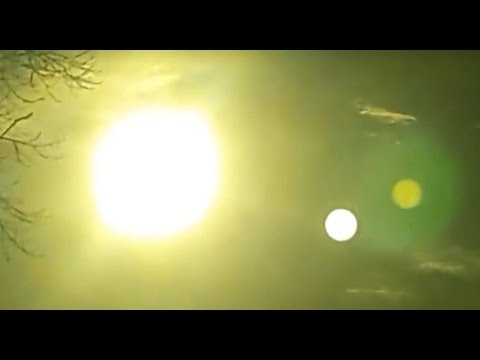 planet nibiru visible next to sun using a shaded lens argentina