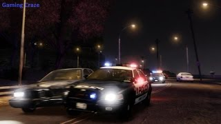 GTA V LSPDFR Mod Gameplay - GTA V Police Mod gameplay chasing Pursuit