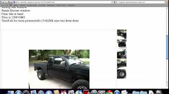 Used Cars Salina Ks >> Craigslist Kansas Used Cars for Sale by Owner - YouTube