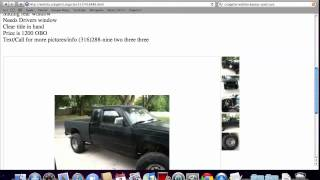 Craigslist Wichita Used Cars for Sale by Private Owner - Popular Trucks and Vans Available