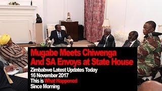 connectYoutube - Mugabe Meets Chiwenga And SA Envoy at State House, Zimbabwe Latest Updates, WATCH What Happened