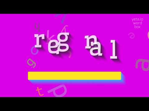 """How to say """"regnal""""! (High Quality Voices)"""