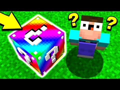 WHAT'S INSIDE THIS MINECRAFT BLOCK? (Minecraft LUCKY BLOCK R
