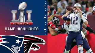 Patriots vs. Falcons | Super Bowl LI Game Highlights(The New England Patriots rallied from down 28 points and put together one of the best comebacks ever in a Super Bowl, knocking off the Atlanta Falcons 34-28 ..., 2017-02-06T05:36:55.000Z)