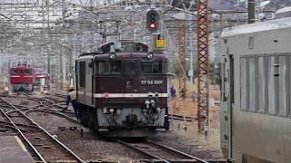 EF64 1001→ED75 757+キハ110 221「配8127レ」黒磯機関車交換20160114