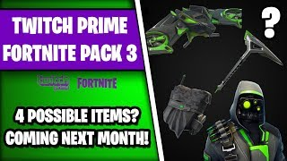 *NEW* LEAKED FORTNITE TWITCH PRIME PACK #3? (4 FREE ITEMS Showcase😍)