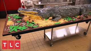 Making a 14-Foot Alligator Cake! | Cake Boss