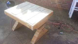 How To Build A  Wooden Garden Bench For 20$ Or Less.
