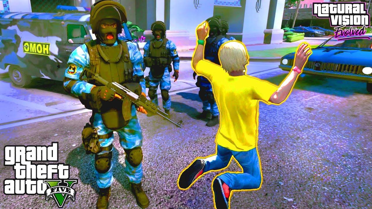 ОМОН арестовал Влада А4 в ГТА 5 моды. Обзор мода в GTA 5. Влад А4 в ГТА 5. Полицейские будни в ГТА 5