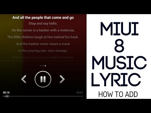Miui 8 Adding Music Lyrics Trick [ Hindi - हिन्दी ]