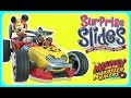 Mickey and The Roadster Racers Surprise Slides GAME CHALLENGE!  Disney Jr Games
