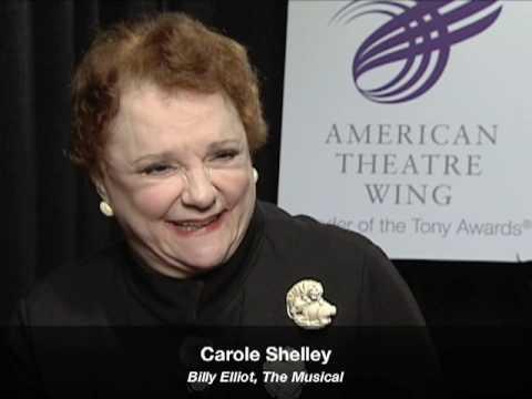 Talkin Tonys  Carole Shelley Billy Elliot, The Musical