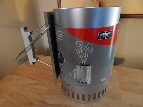weber rapidfire charcoal chimney starter review doovi. Black Bedroom Furniture Sets. Home Design Ideas