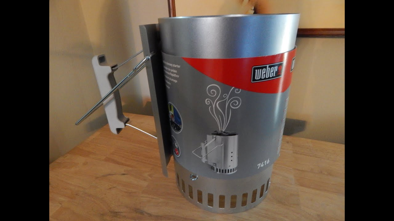 Bbq Starter Weber.Weber Rapidfire Charcoal Chimney Starter Review How To Use A Charcoal Chimney Starter