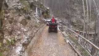 Atv  Tunnel 1 Km Long And Lot Of Other Tunnels And Bridges In The Snow.mp4