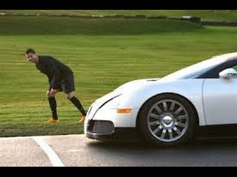cristiano ronaldo racing a bugatti youtube. Black Bedroom Furniture Sets. Home Design Ideas