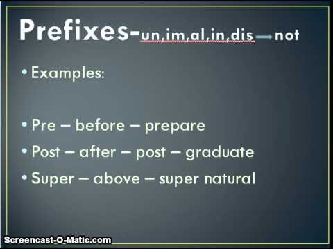 What is affixes