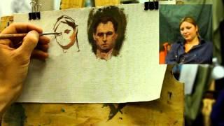 О сверхкоротких этюдах - Обучение живописи. Масло. Портрет, 11 серия