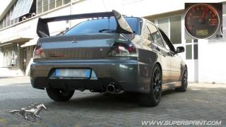 Mitsubishi Lancer Evo 9 Sound with Supersprint exhaust (cat delete, resonator delete, muffler)