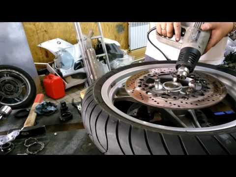 R1100-1150 Замена подшипников переднего колеса