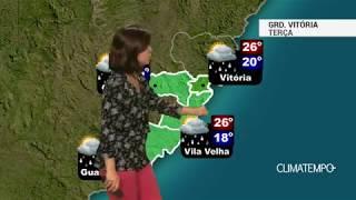 Previsão Grande Vitória – Mais chuva nesta terça