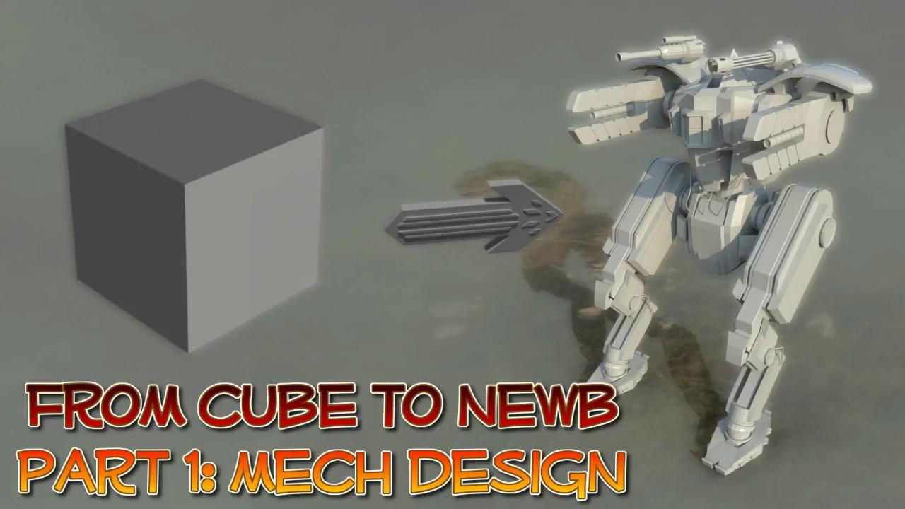 Cube To Newb EP1: 3D Mech Speed Model in Blender