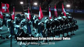 "Drum Corps ""Top Secret"" at Royal Edinburgh Military Tattoo 2018"