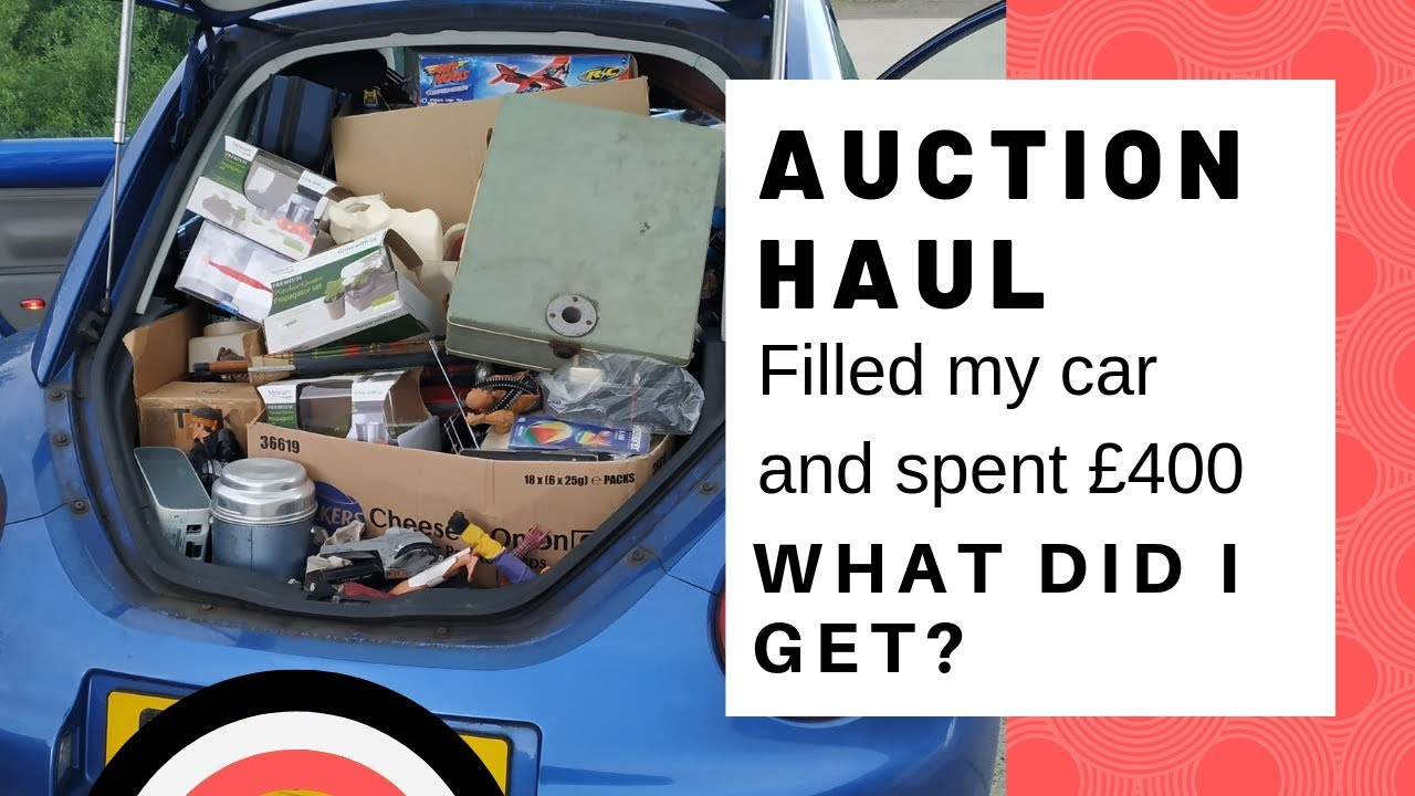 I Spent 400 At Auction What Did I Get Uk Ebay Reseller Buying For Profit Auction Haul Youtube