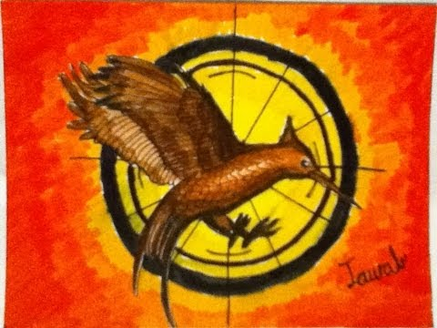 Speed Drawing Of Catching Fire Symbol Youtube