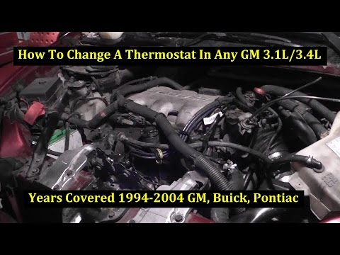 How To Change A Thermostat 2001 Oldsmobile Shilliette 3400 GM 3.4L V6