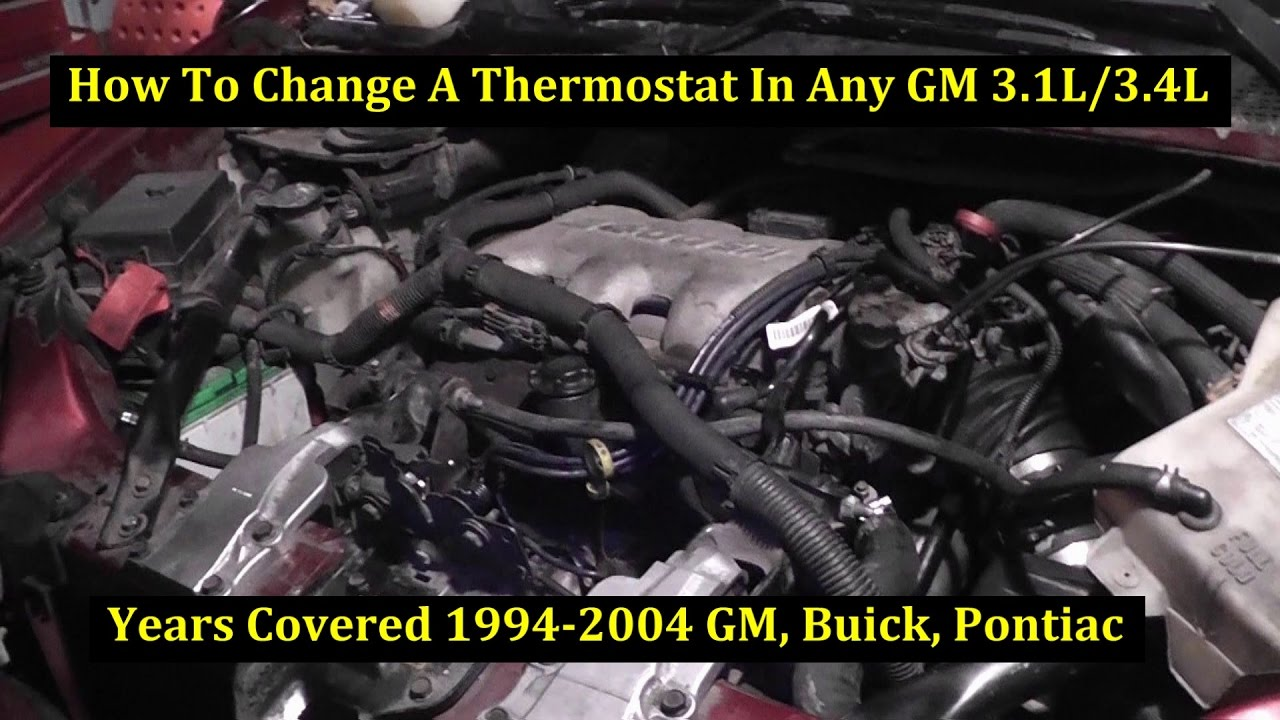how to change a thermostat 2001 oldsmobile shilliette 3400 gm 3 4l v6 [ 1280 x 720 Pixel ]