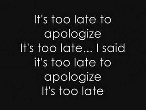 Apologize- Timbaland feat. One republic (lyrics)