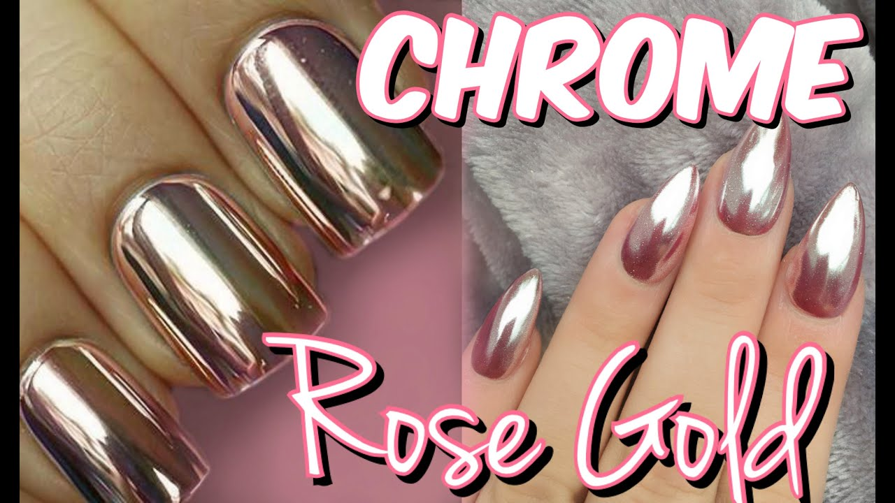 UÑAS EFECTO ESPEJO | Rose GOLD | CHROME Mirror Powder | Mirianny ...